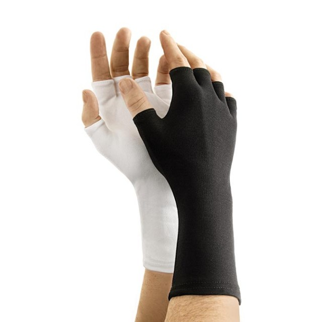 Long-Wristed Half-Finger Nylon Glove
