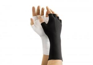Long-Wristed Half-Finger Nylon Glove